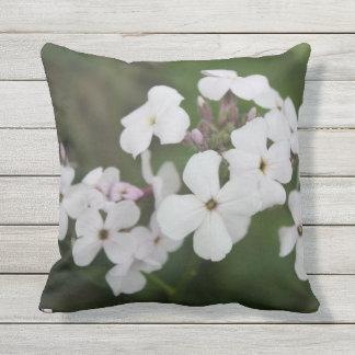 Phlox outdoor throw pillow