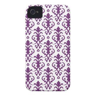 Phlox Purple Damask iPhone 4/4S Case