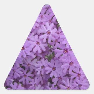 Phlox Purple Triangle Sticker