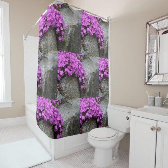 Phlox Rock Garden Shower Curtain