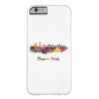 Phnom Penh skyline in watercolor Barely There iPhone 6 Case