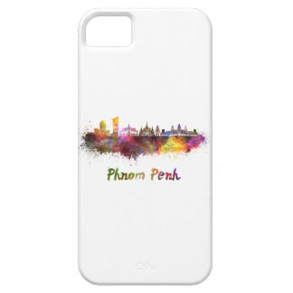 Phnom Penh skyline in watercolor iPhone 5 Cover