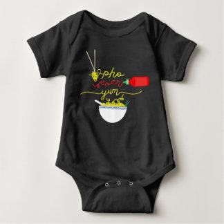 Pho Ever Yum Pho Bowl Hot Sauce BABY Jumper Baby Bodysuit