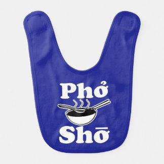 Pho Sho funny saying foodie baby bib