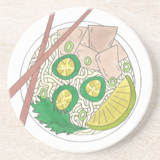 PHO Vietnamese Food Chicken Noodle Soup Chopsticks Coaster