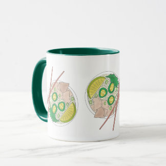 PHO Vietnamese Food Chicken Noodle Soup Chopsticks Mug