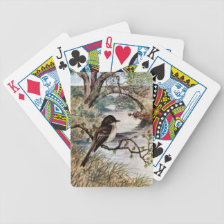 Phoebe and Stone Bridge Over Creek Bicycle Playing Cards