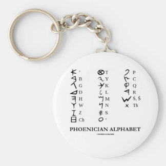 Phoenician Alphabet (Linguistics Cryptography) Key Ring