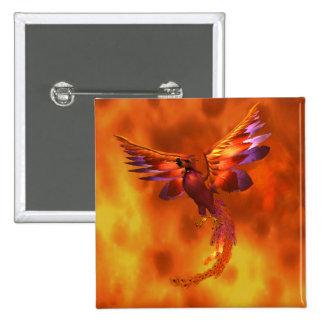Phoenix 15 Cm Square Badge