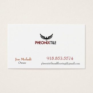 Phoenix_4, PHEONIX TILE AND FLOORING , Joe Mofa... Business Card