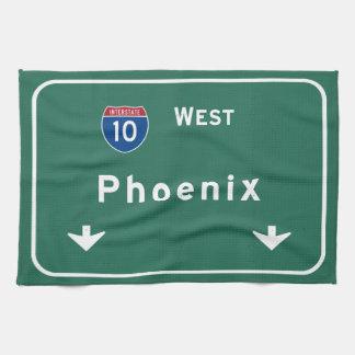 Phoenix Arizona az Interstate Highway Freeway : Tea Towel