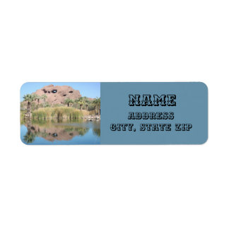 Phoenix Arizona Landmark Mountain Palm Trees Return Address Label