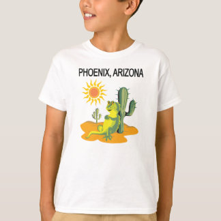 Phoenix Arizona Lizard in the Sun under a Saguaro T-Shirt