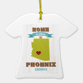 Phoenix, Arizona Map – Home Is Where The Heart Is Christmas Tree Ornament