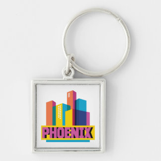 Phoenix, Arizona | Neon Skyline Key Ring