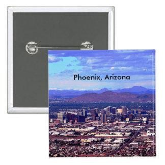 Phoenix, Arizona Skycape in Daytime 15 Cm Square Badge