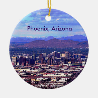 Phoenix, Arizona Skycape in Daytime Ceramic Ornament