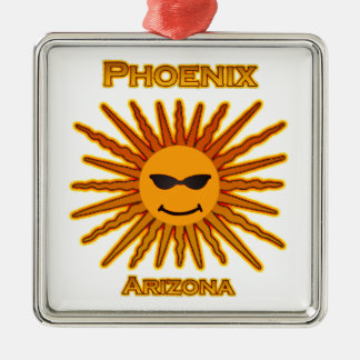 Phoenix Arizona Sun Logo Metal Ornament