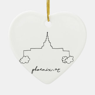phoenix arizona temple simple modern sketch ceramic ornament