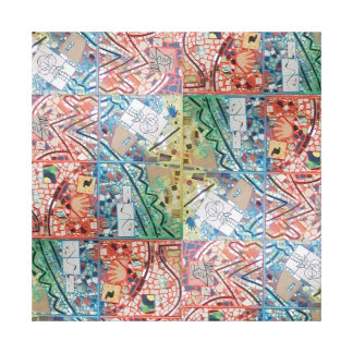Phoenix Art Patchwork Mosaic Canvas Print