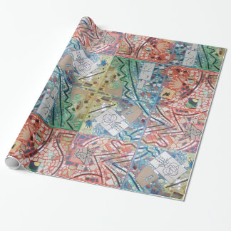 Phoenix Art Patchwork Mosaic Wrapping Paper