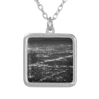 Phoenix at Night Silver Plated Necklace