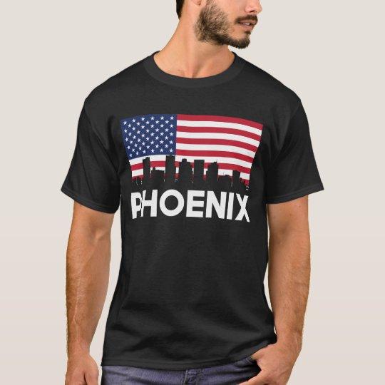 Phoenix AZ American Flag Skyline T-Shirt