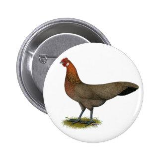 Phoenix:  BB Red Hen 6 Cm Round Badge