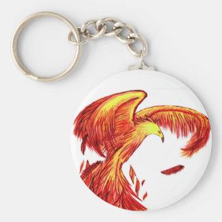Phoenix Being Reborn Keychain. Key Ring