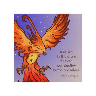 Phoenix Bird Art on Wood