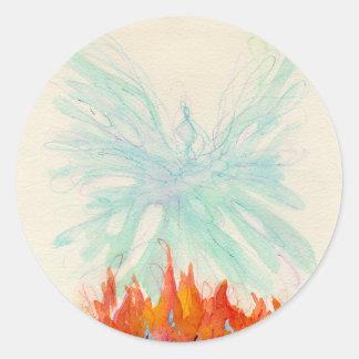 PHOENIX BIRD by SHARON SHARPE Classic Round Sticker