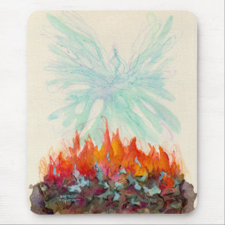 PHOENIX BIRD by SHARON SHARPE Mouse Pad