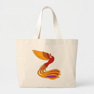 Phoenix Bird Jumbo Tote