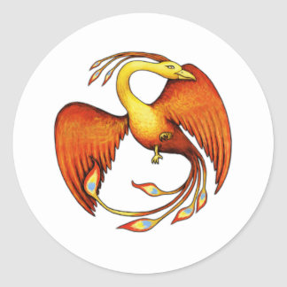 Phoenix Bird of Myth Classic Round Sticker