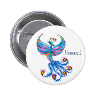 Phoenix Bird Renewal Large Button