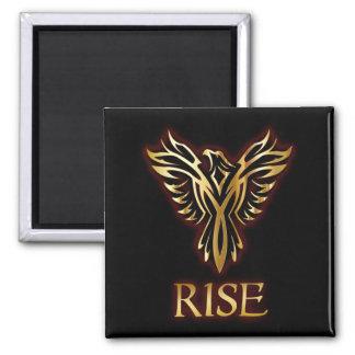 Phoenix Bird Rise Square Magnet