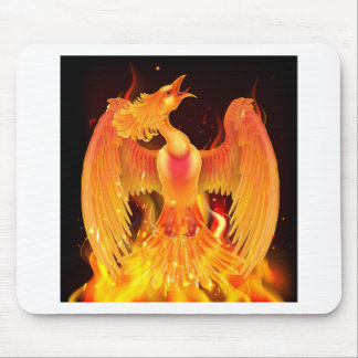 Phoenix Bird Rising From Ashes Mouse Pad