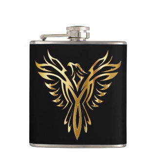 Phoenix Bird Wrapped Vinal Flask