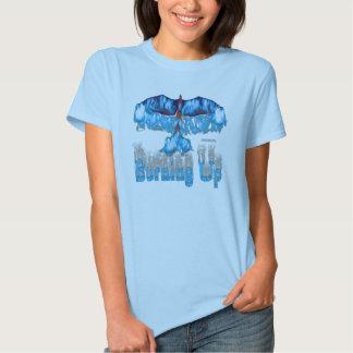 Phoenix Burning Up Ladies Babydoll T-Shirt