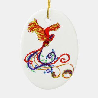 Phoenix Ceramic Oval Decoration