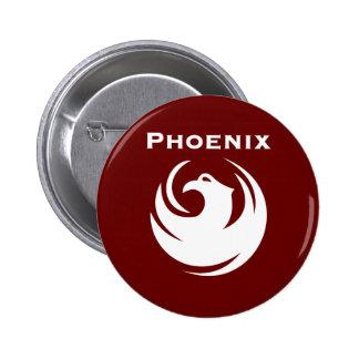 Phoenix city flag 6 cm round badge