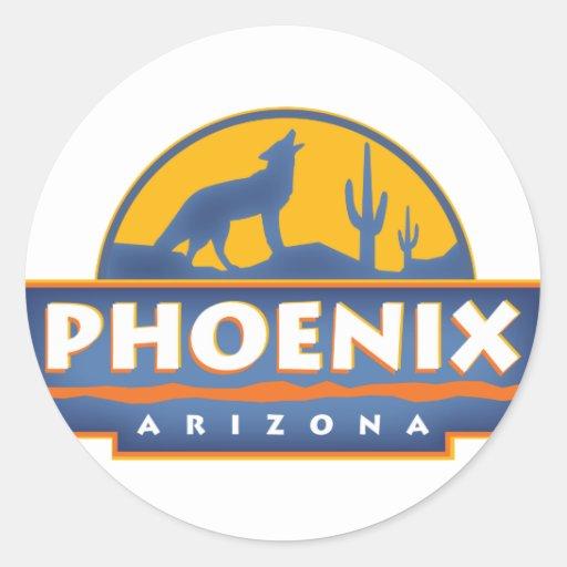 Phoenix Coyote Round Stickers