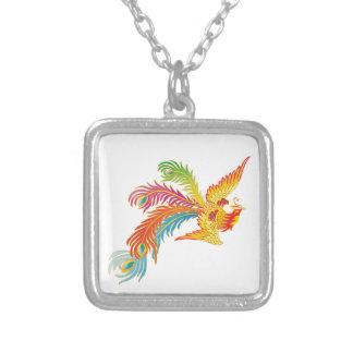 Phoenix Design Square Pendant Necklace