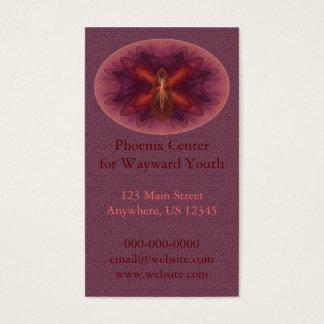 Phoenix Egg Abstract Art Business Card