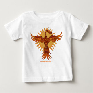 Phoenix fire bird cute baby t-shirt design