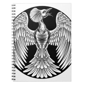 Phoenix Fire Bird Design Notebook