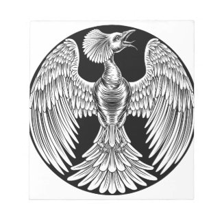 Phoenix Fire Bird Design Notepad