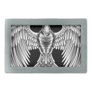 Phoenix Fire Bird Design Rectangular Belt Buckle