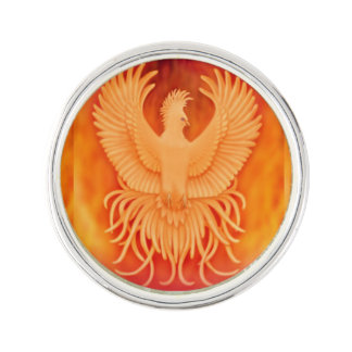 Phoenix Fire Bird Survivors Lapel Pin