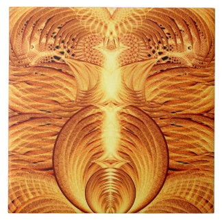 Phoenix Fire Ceramic Tile